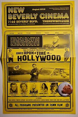 Once Upon A Time In Hollywood New Beverly Cinema Schedule Poster And Brandy Pin