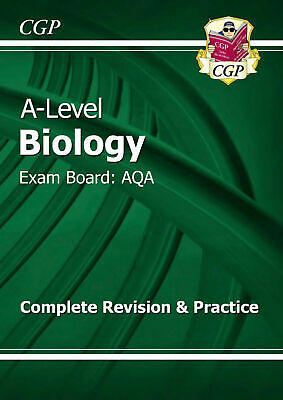 A-Level Biology: CGP AQA Year 1 & 2 Complete Revision & Practice PDF Version