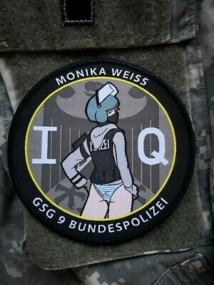 Rainbow Six: Siege, IQ, Anime Girl Soldier, Military Morale Patch, GSG9 CS Weiss