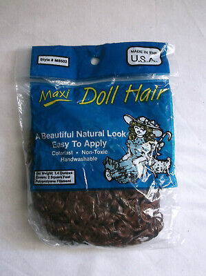 Maxi Doll Hair Chocolate Natural Curly  1.4 Oz NIP Made in USA