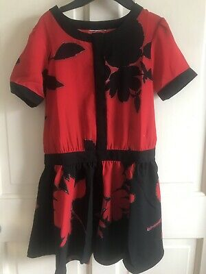 BNWOT Next Play/ Jump Suit. Girls. Black & Red. Age 4 - 11 Years. Chiffon