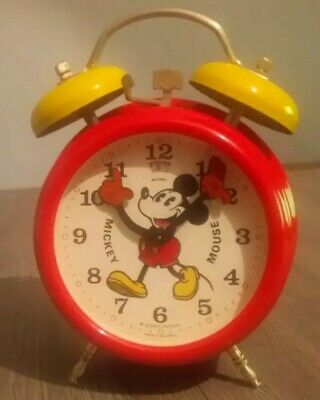 Reveil Mickey Mouse - Disney - Avronel - Made in Germany - Vintage 1960