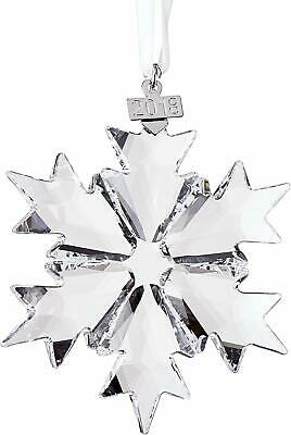 Swarovski 2018 Christmas Snowflake Ornament Large Clear Crystal Holiday