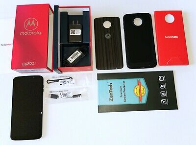 Motorola XT1929-4 Moto Z3 Play 64GB Unlocked Smartphone Deep Indigo WORKS - READ