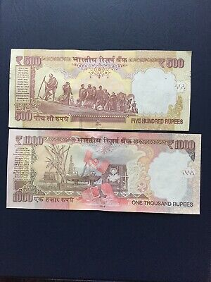 Various Denomination Indian Rupees Bank Notes. Ideal For An Avid Note Collector