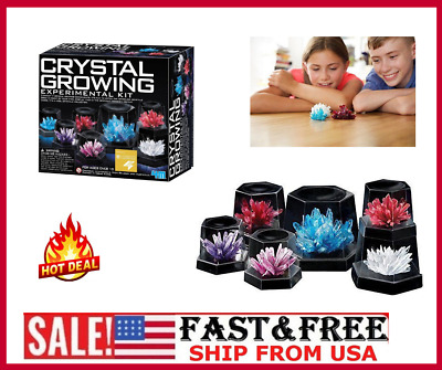 4M Crystal Growing Experiment Science Kit For Kids Conduct 7 Crystals