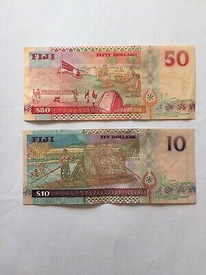 Various Circulated Fiji Notes Depicting Portrait Of Queen Elizabeth The 2nd.