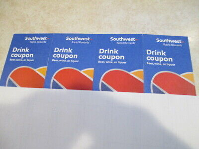 Southwest Drink Coupons  4 Coupons