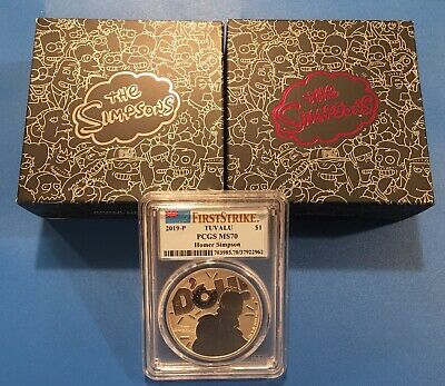 3 Coins: 2019 Simpson Donut Proof, Homer 1 Oz Proof & DOH MS70 First Strike