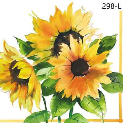 TWO New Paper Luncheon Decoupage Napkins - SUNFLOWERS, FLOWER, FLOWERS (298)