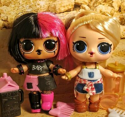 Lol surprise dolls, TWANG & METAL BABE. Lot of 2 Color changers. Opposites Club.