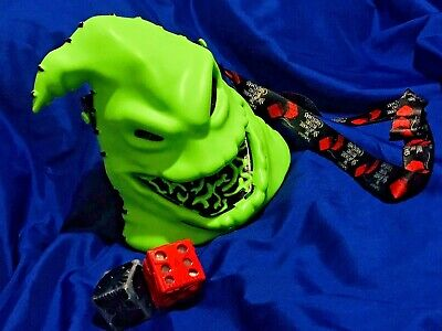 Disney Halloween 2019 Light Up Oogie Boogie Popcorn bucket & Glow light up Dice