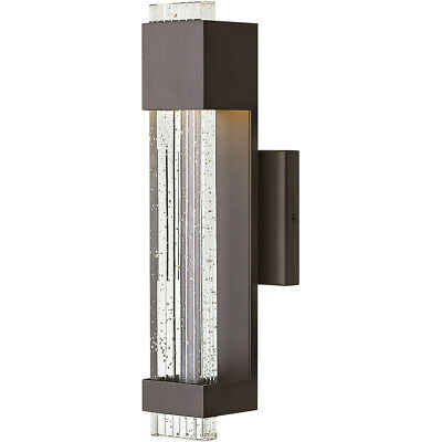 Hinkley Lighting 2830BZ Glacier LED 16 inch Bronze Outdoor Wall Mount, Small