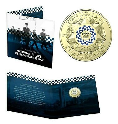 2019 $2 Police Remembrance Day Coloured Mint Mark  C Mintmark