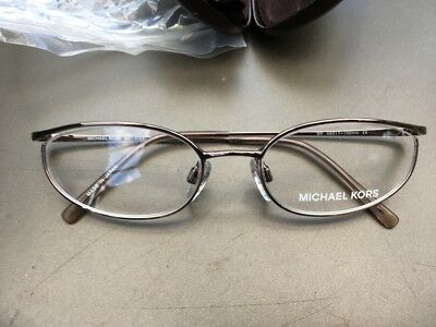 Michael Kors Spectacle Frame Brown & Gold 49 -17-130 BNWB