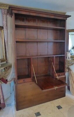 19th C.MAHOGANY BOOKCASE/BUREAU/SECRETAIRE.WITH KEY.VINTAGE VICTORIAN BARGAIN