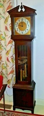 Antique / Art Deco Colonial Winterhalder Time+Strike Grandfather Clock  C1920-30