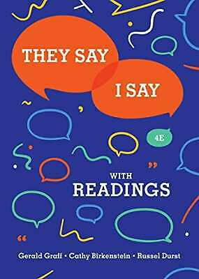 They Say I Say 4th Edition by Gerald Graff {P.D.F} ⚡ Get it FAST ⚡
