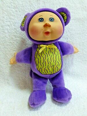 "Cabbage Patch Kids Cuties Plush 10"" doll in purple costume"