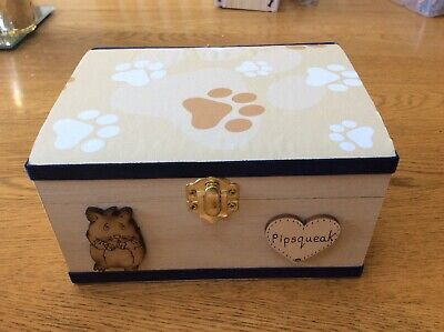 Pet Urn Memorial Wooden Keepsake Personalised Small Animal Casket Handcrafted