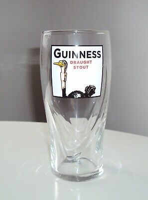 Guinness Draught Stout Ostrich 20 OZ  Beer Glass - Brand New