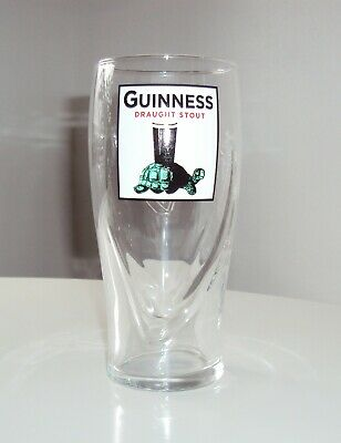 Guinness Draught Stout Turtle 20 OZ  Beer Glass - Brand New