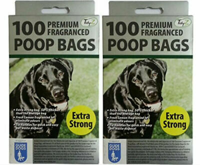 Dog Poo Bags Premium Quality Extra Strong Fragranced Doggy Bags Tie Handles 100+