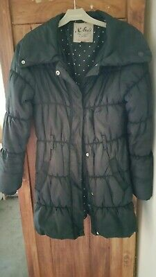 Next Girls Black thick Padded Coat Age 11-12 Fits Older Too ideal for school