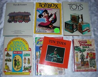 TOYS DOLLS GAMES - Lot of 7 Price Guides and Collectibles Books & Magazines
