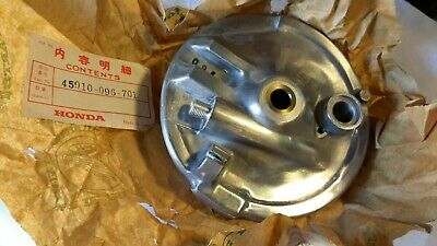 Honda C90 front wheel backplate with speedo drive pinion 45010 096 701...