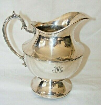 Antique Knickerbocker Silver Co Silver Plate Large Jug Engraved Mhb Classical