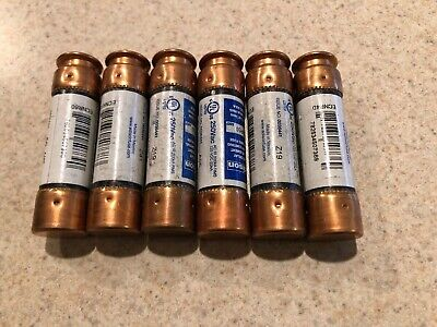 Lot of 6 Bussmann Edison 60A Time Delay Class RK5 Fuse 250VAC/125VDC, ECNR60