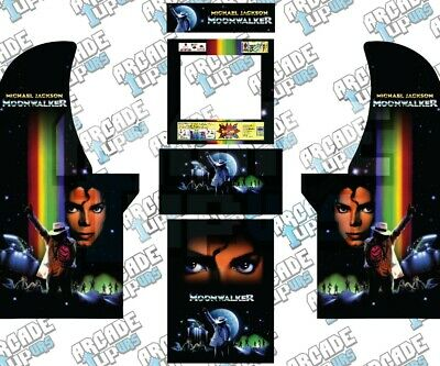 Arcade1up Cabinet Graphic Decal Complete Kits - Micheal Jackson's Moonwalker