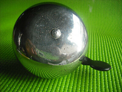 VINTAGE 1950'S/60's LARGE HEAVY CHROME DUTCH CYCLE BELL - DING-DONG!!