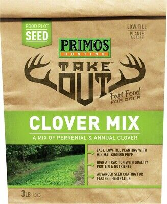 Primos 58581 Take Out Food Plot Seed, Clover Mix (Perennial &