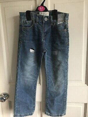 BNWT Matalan Straight Fit Stonewash Jeans. Boys. Age 6 or 7 Years