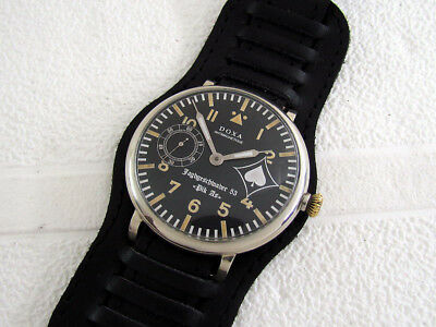 DOXA Jagdgeschwader 53 Pik As Luftwaffe Pilot WWII Vintage 1939-1945 Swiss Watch