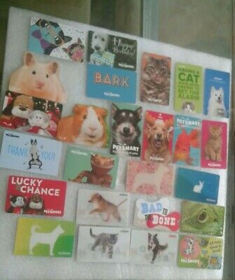 Twenty five ( 25) Different PetSmart Gift Cards, Collectible, Mint, Beautiful
