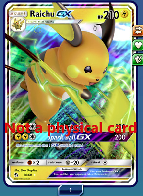 Unused Codes:Shining Legends Special Collection Box Raichu GX Code Card Emailed