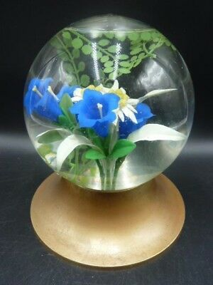 Beautiful Vintage 1950s 'Le Rosarium' French Glass Water Globe Ornament - Rare