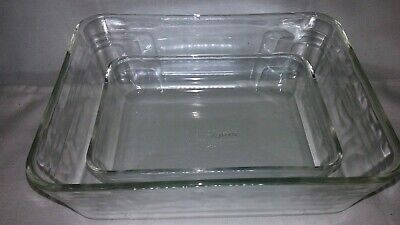 Vintage PYREX 7210 & 7212 Clr Glass Casserole Dishes Bakeware 11 cup/ 3 cup  USA