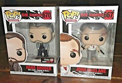 Funko POP! Movies DIE HARD John McClane and GS Exclusive Hans Gruber SET