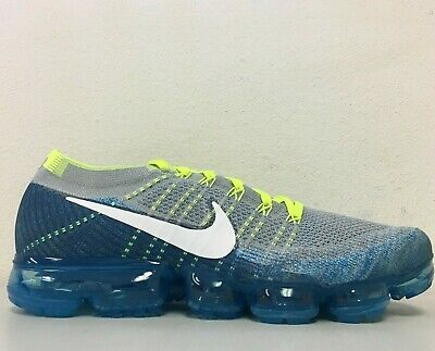 Nike Air Vapormax Flyknit Sprite Grey White Chlorine Blue 849558-022 Size 11