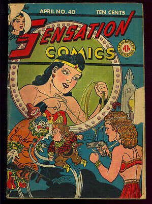 Sensation Comics #40 Golden Age Wonder Woman DC Comic 1945 GD-