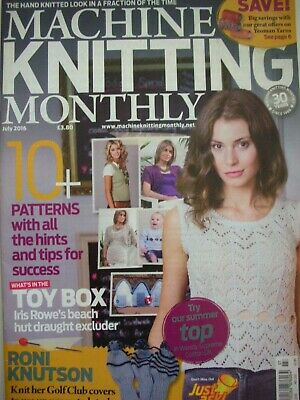 MACHINE KNITTING MONTHLY Magazine July 2016 Issue:222 Patterns Tips Techniques