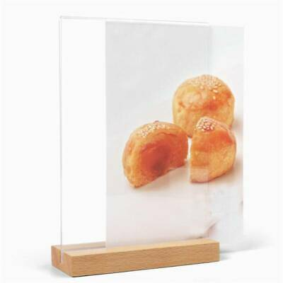Menu Ad Clear Acrylic Sign Holder Table Top Restaurant Card Display Stand JJ