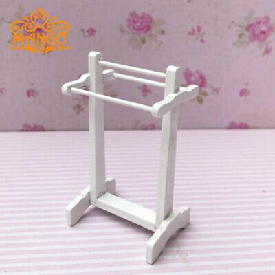 Miniature 1:12 Doll House Accessories Towel Rack Child Puzzle Handmade Doll Toy