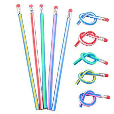 50X Cute Magic Flexible Bendy Soft Standard Pencil For Kids Gift School Supplies