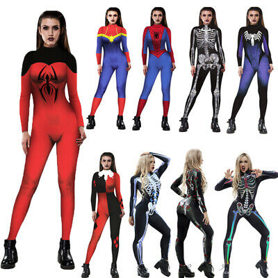 Costume Superwoman vestito Scheletro Tutu Halloween Donna Carnevale cosplay Set