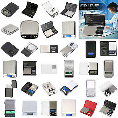 LCD Digital Scale Jewelry Gold Silver Coin Gram Pocket Herb Grain Balance Weight